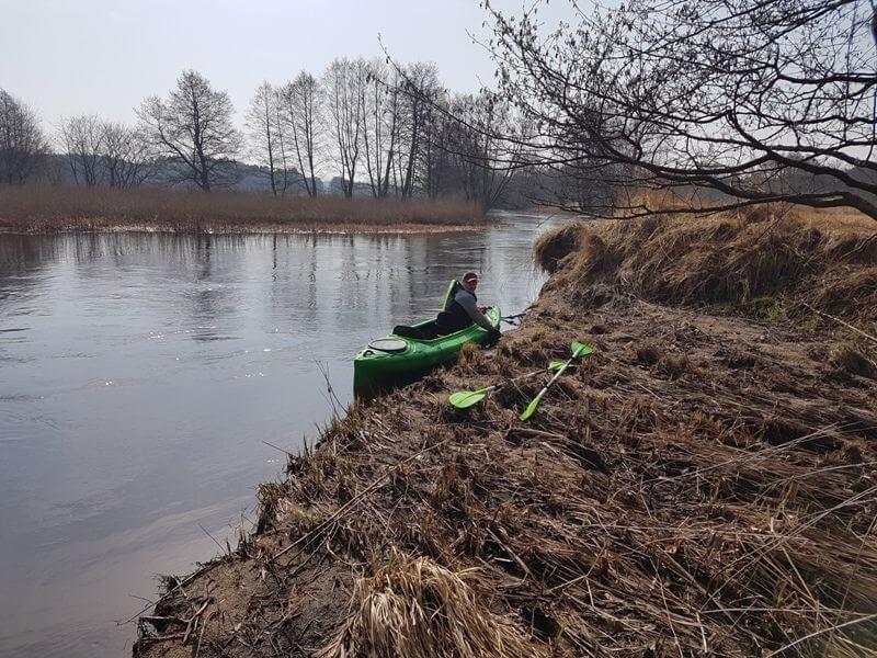 Początek sezonu 2018, spływ na trasie Kępice-Sławno